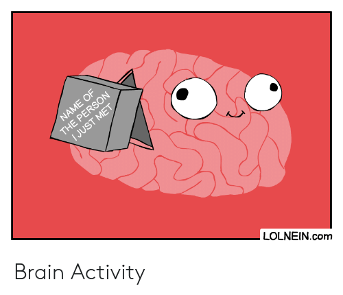 Activity: NAME OF  THE PERSON  I JUST MET  LOLNEIN.com Brain Activity