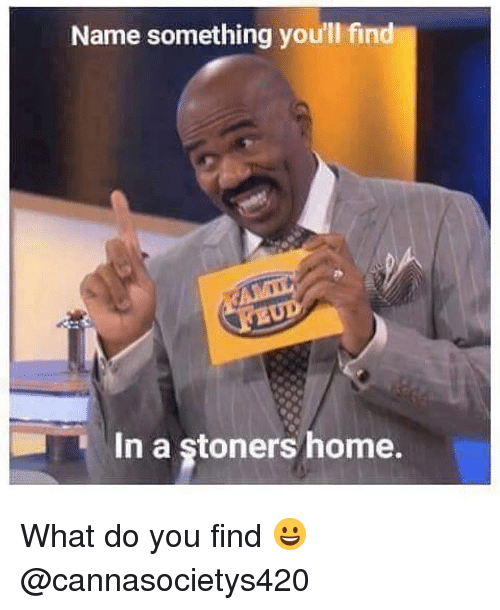 Stoners: Name something you'll find  In a stoners home. What do you find 😀 @cannasocietys420