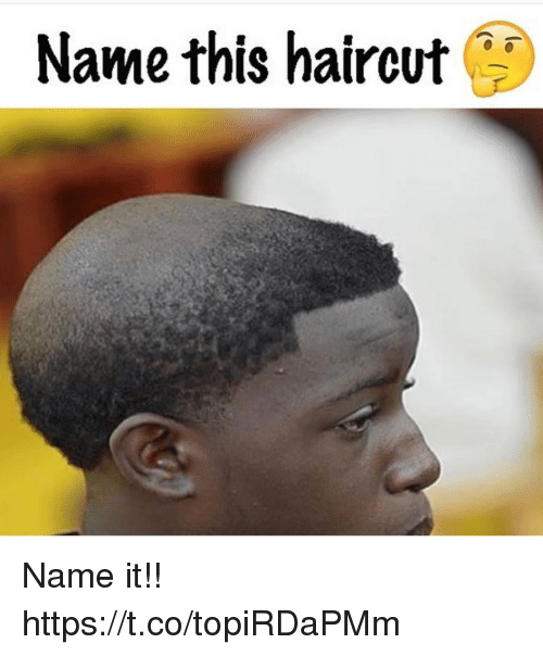 Haircut, Memes, and 🤖: Name this haircut Name it!! https://t.co/topiRDaPMm