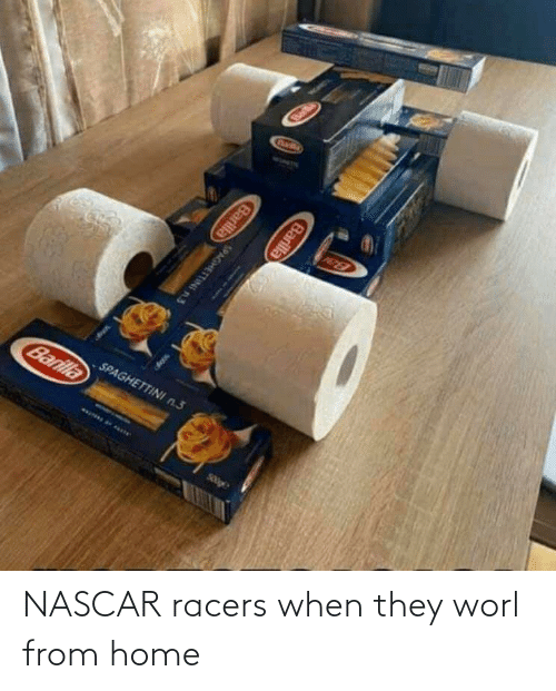 nascar: NASCAR racers when they worl from home