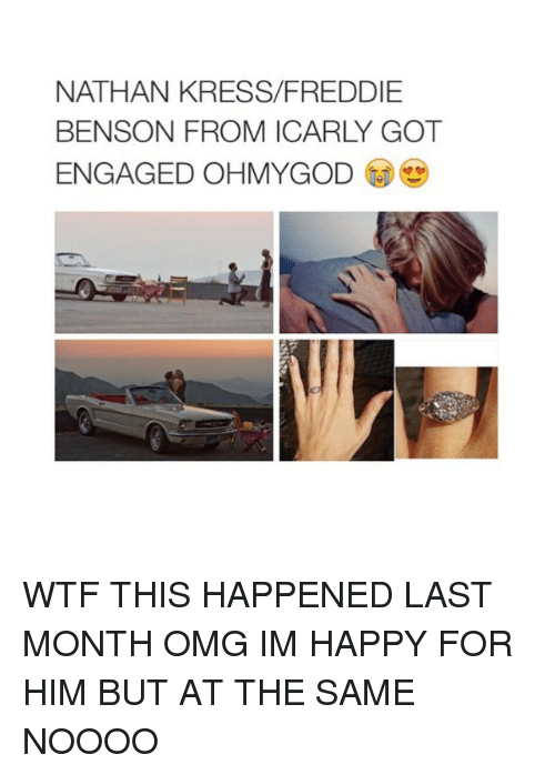 nathan kress: NATHAN KRESS/FREDDIE  BENSON FROM ICARLY GOT  ENGAGED OHMYGOD WTF THIS HAPPENED LAST MONTH OMG IM HAPPY FOR HIM BUT AT THE SAME NOOOO