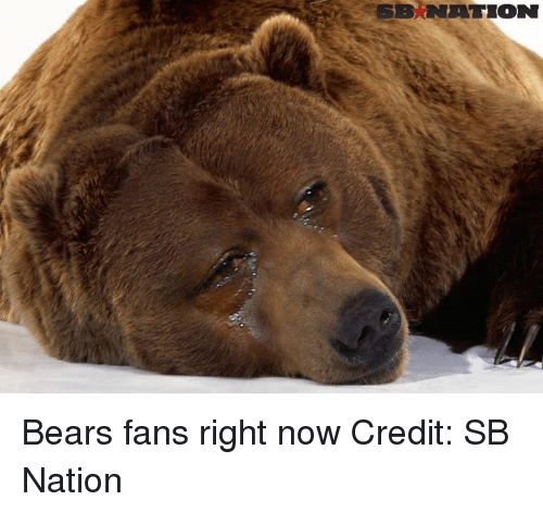NFL: NATION Bears fans right now Credit: SB Nation