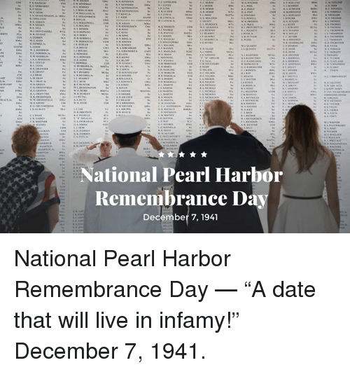 "an analysis of the date that will live in infamy Roosevelt called the unprovoked attack on pearl harbor a ""date which will live in  infamy,"" in an address to the nation delivered 75 years ago."