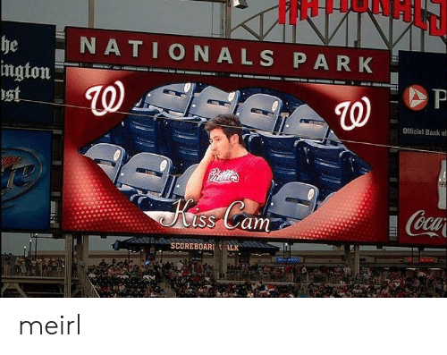 nationals: NATIONALS PARK  he  ington  st  P  Official Bank o  Carlie  Kss Cam  Coca  SCOREBOAR  ALK meirl
