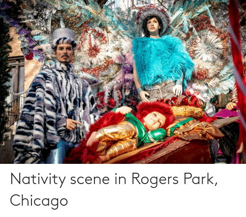 nativity: Nativity scene in Rogers Park, Chicago