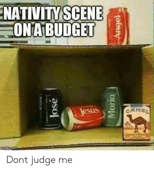 nativity scene: NATIVITY SCENE  ONA BUDGET Dont judge me