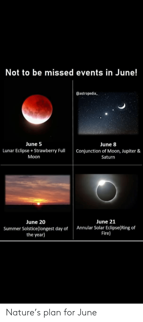 Nature: Nature's plan for June