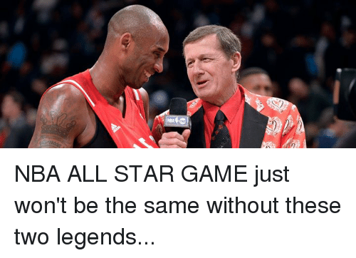 All Star, Memes, and Nba: NBA ALL STAR GAME just won't be the same without these two legends...