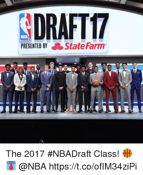 Nba, State Farm, and Class: NBA  PRESENTED BY  a State Farm The 2017 #NBADraft Class! 🏀👔 @NBA https://t.co/ofIM34ziPi