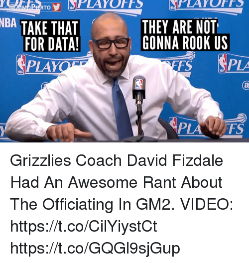 Nba Take That For Data Play Nba Playoffs They Are Not I Gonna Rook Us Fs Pia Nba Grizzlies