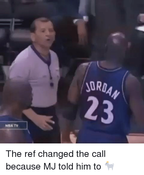 Funny, Change, and The Ref: NBA TV  ORDAN The ref changed the call because MJ told him to 🐐