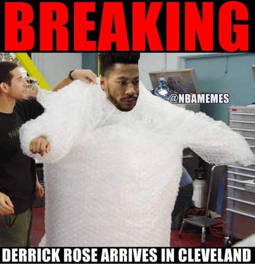 Derrick Rose, Nba, and Cleveland: NBAMEMES  DERRICK ROSE ARRIVES IN CLEVELAND