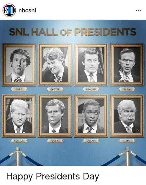clinton bush: nbcsnl  SNL HALL OF PRESIDENTS  FORD  CARTER  REAGAN  BUSH  CLINTON  BUSH  OBAMA  TRUMP  1