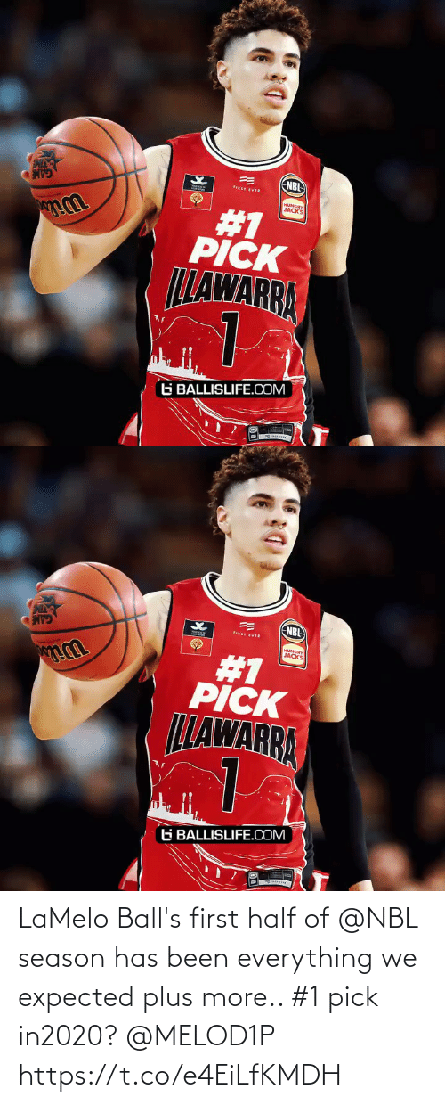 balls: NBI  FIRST EVER  HUNGRY  JACKS  #1  PICK  LLAWARRA  G BALLISLIFE.COM   NBL  FIRST EVER  HUNGRY  JACKS  #1  PICK  LLAWARRA  G BALLISLIFE.COM LaMelo Ball's first half of @NBL season has been everything we expected plus more.. #1 pick in2020? @MELOD1P https://t.co/e4EiLfKMDH