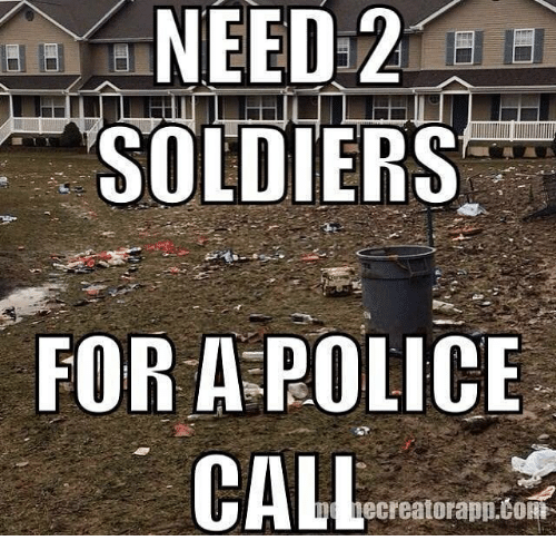 cortes: NEED 2  SOLDIERS  FOR A POLICE  CALL  ecreatorapp CORT