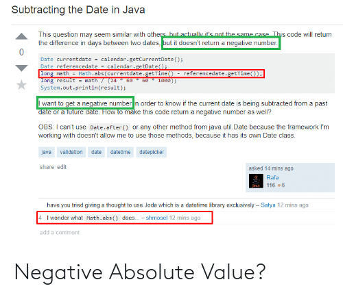Absolute: Negative Absolute Value?