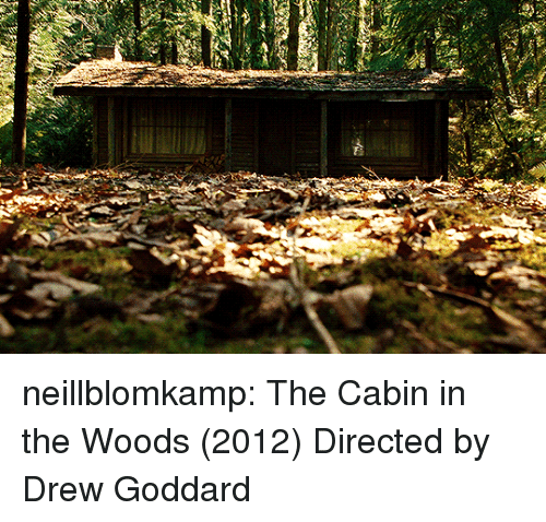 cabin in the woods: neillblomkamp:  The Cabin in the Woods (2012) Directed by Drew Goddard