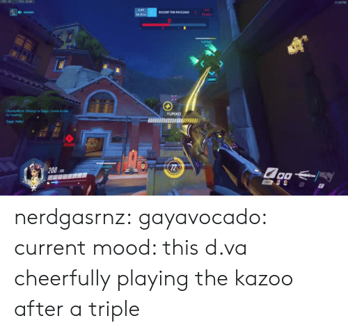 D Va: nerdgasrnz:  gayavocado: current mood: this d.va cheerfully playing the kazoo after a triple