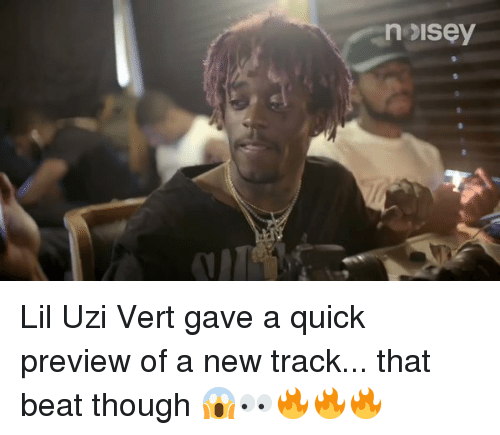 Beats, Hood, and Uzi: nesisey Lil Uzi Vert gave a quick preview of a new track... that beat though 😱👀🔥🔥🔥