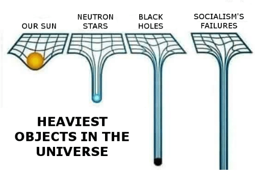 Holes, Black, and Blacked: NEUTRON  BLACK  HOLES  OUR SUN  STARS  HEAVIEST  OBJECTS IN THE  UNIVERSE  SOCIALISM's  FAILURES