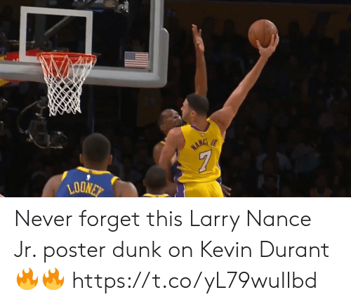 durant: Never forget this Larry Nance Jr. poster dunk on Kevin Durant🔥🔥 https://t.co/yL79wuIIbd