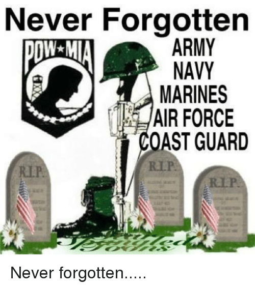 Memes, Air Force, and Marines: Never Forgotten  ARMY  NAVY  MARINES  AIR FORCE  OAST GUARD Never forgotten.....