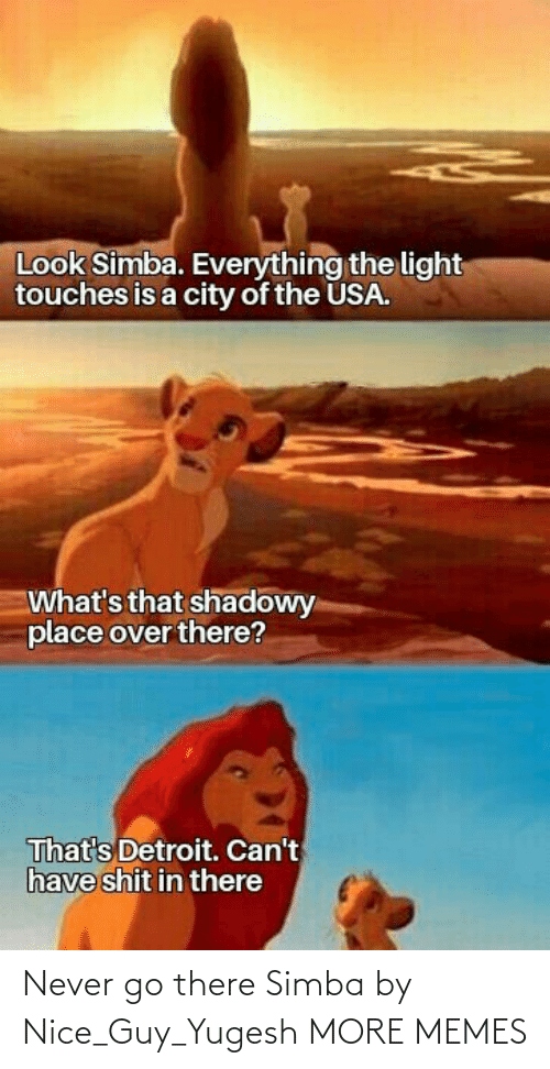 Nice: Never go there Simba by Nice_Guy_Yugesh MORE MEMES