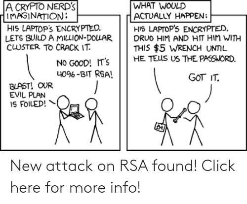 attack: New attack on RSA found! Click here for more info!