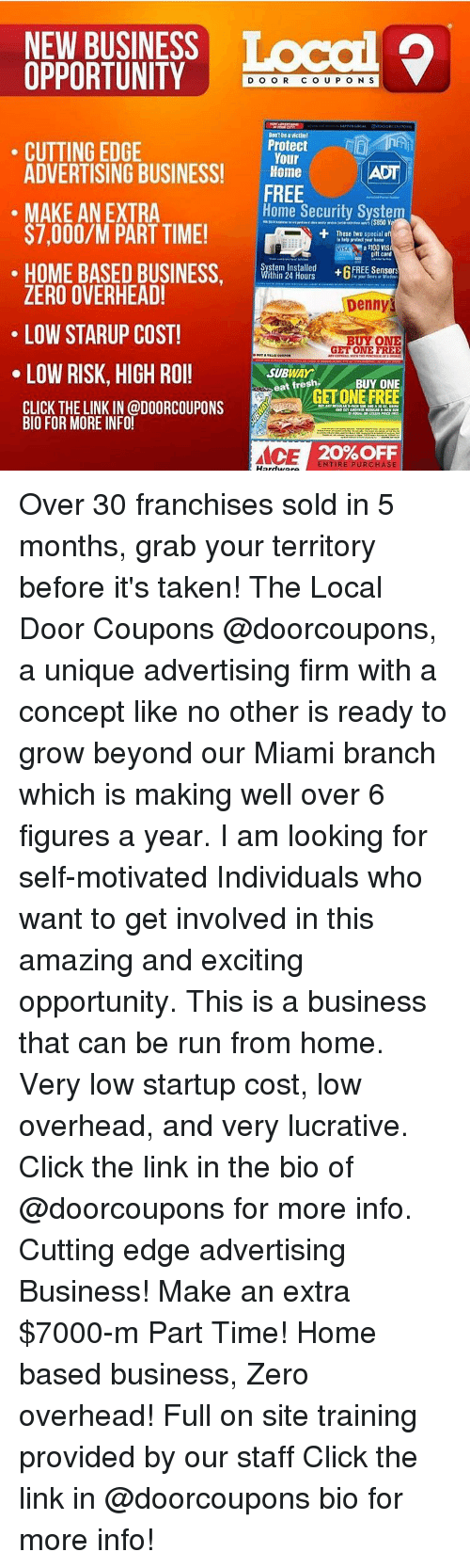Local door coupons franchise cost