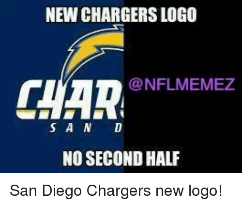 san diego chargers: NEW CHARGERSLOGO  CHAR NFLMEMEZ  S A N D  NO SECOND HALF San Diego Chargers new logo!