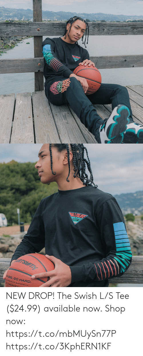 tee: NEW DROP! The Swish L/S Tee ($24.99) available now.  Shop now: https://t.co/mbMUySn77P https://t.co/3KphERN1KF