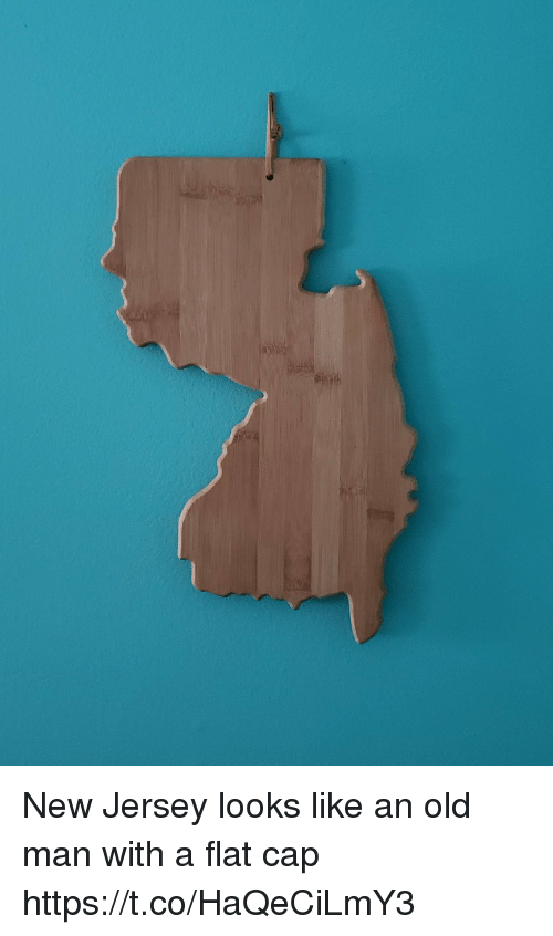 New Jersey: New Jersey looks like an old man with a flat cap https://t.co/HaQeCiLmY3