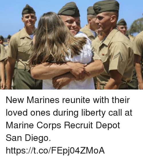 Memes, Marines, and San Diego: New Marines reunite with their loved ones during liberty call at Marine Corps Recruit Depot San Diego. https://t.co/FEpj04ZMoA