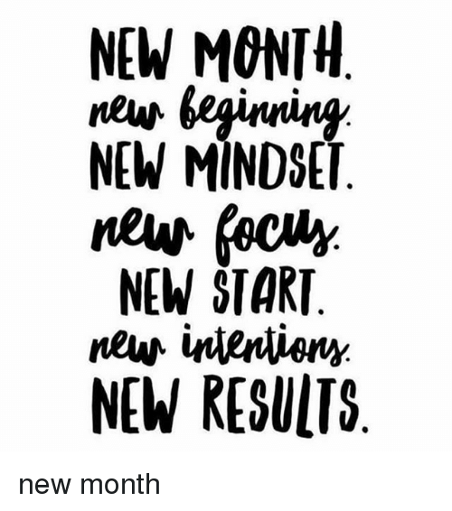 Memes, 🤖, and New: NEW MONTH  new Geginningw  NEW MINDSET  new focuw  NEW START  new inventienm  NEW RESULTS new month