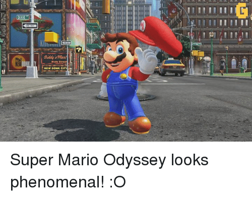 Phenomenal, Super Mario, and Video Games: NEW  NEW DONK CITM Super Mario Odyssey looks phenomenal! :O