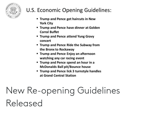 Opening: New Re-opening Guidelines Released
