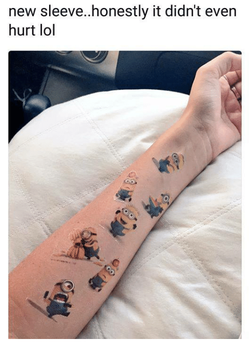 Lol, Memes, and 🤖: new sleeve..honestly it didn't even  hurt lol