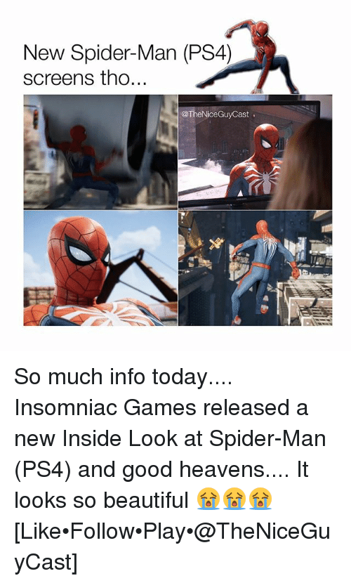 How Ps4 Games Look : New spider man ps screens tho so much info today