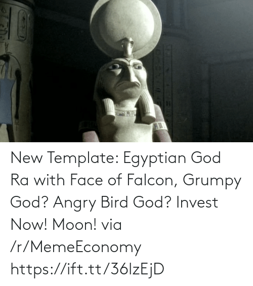 Egyptian: New Template: Egyptian God Ra with Face of Falcon, Grumpy God? Angry Bird God? Invest Now! Moon! via /r/MemeEconomy https://ift.tt/36lzEjD