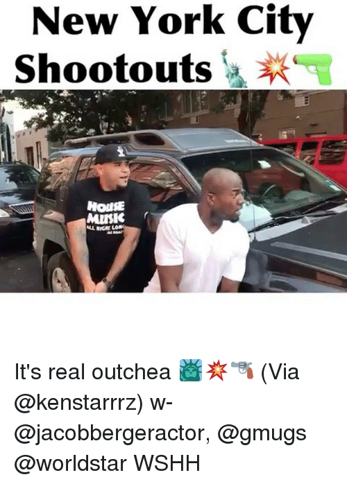 Ricing: New York City  ootouts  HOUE  MISK  LL RICE It's real outchea 🗽💥🔫 (Via @kenstarrrz) w- @jacobbergeractor, @gmugs @worldstar WSHH