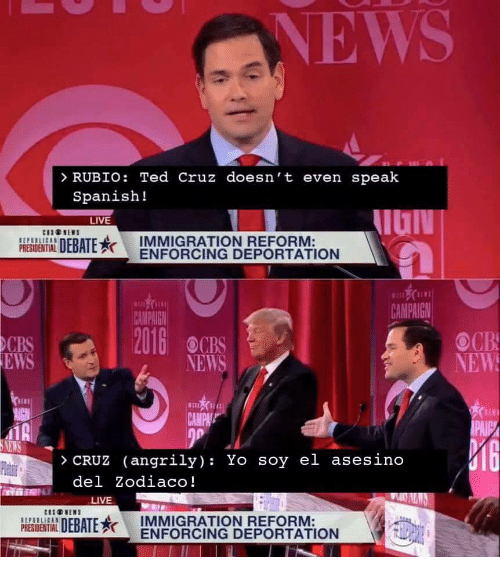 Immigration Reform News: 25+ Best Memes About Spanish, Ted, And Ted Cruz