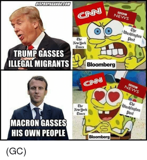 Dost: NEWS  The  lWashington  post  The  Aework  Cimes  TRUMP GASSES  ILLEGAL MIGRANTS  Bloomberg  Washington  Dost  The  Times  MACRON GASSES  HIS OWN PEOPLE  Bloomberg (GC)
