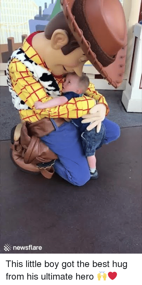 Best Hug: newsflare This little boy got the best hug from his ultimate hero 🙌❤️