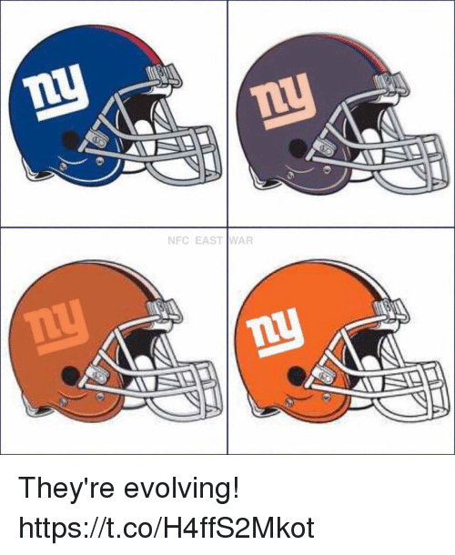 nfc east: NFC EAST WAR They're evolving! https://t.co/H4ffS2Mkot
