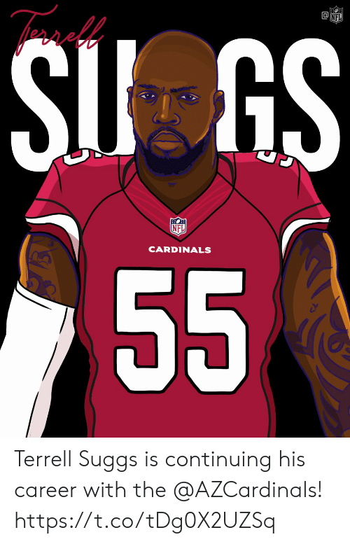 nfl cardinals: NFL  CARDINALS Terrell Suggs is continuing his career with the @AZCardinals! https://t.co/tDg0X2UZSq