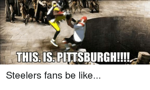 steelers fans be like: NFL MEME  THIS IS PITTSBURGH!!!! Steelers fans be like...
