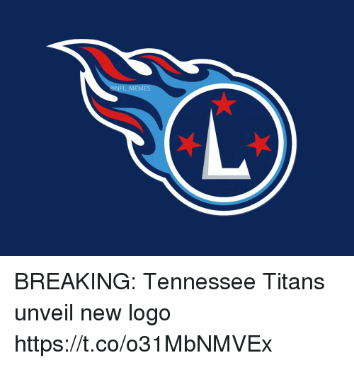 Football, Memes, and Nfl: NFL MEMES BREAKING: Tennessee Titans unveil new logo https://t.co/o31MbNMVEx