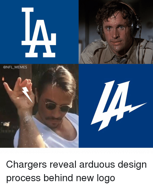 Football, Nfl, and Sports: @NFL MEMES Chargers reveal arduous design process behind new logo