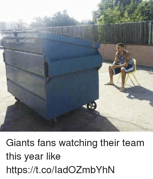 Football, Memes, and Nfl: @NFL _MEMES Giants fans watching their team this year like https://t.co/IadOZmbYhN
