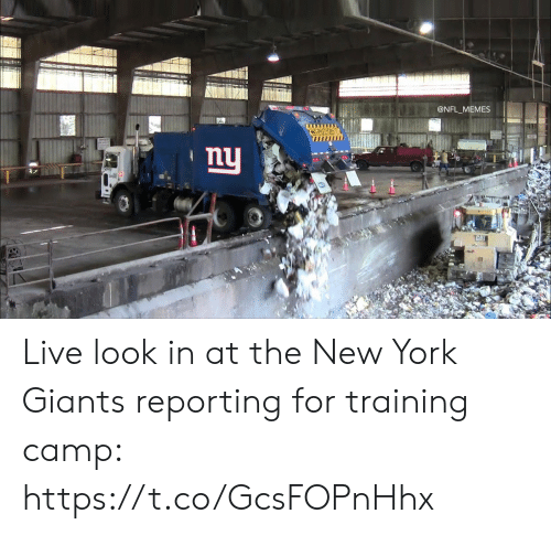 New York Giants: @NFL_MEMES  L  CAUTION  ny  THAI Live look in at the New York Giants reporting for training camp: https://t.co/GcsFOPnHhx